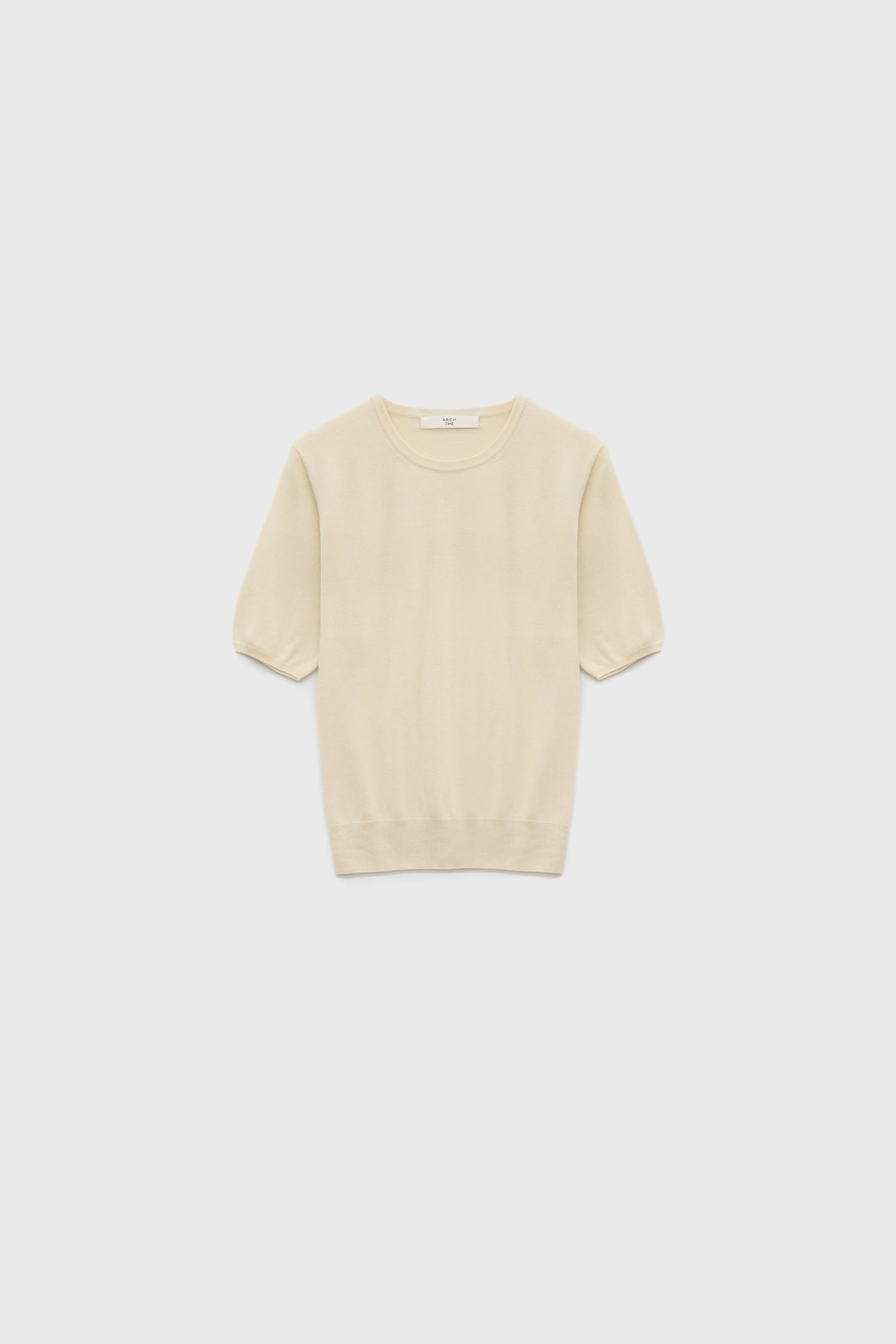 Rround neck short-sleeved sweater
